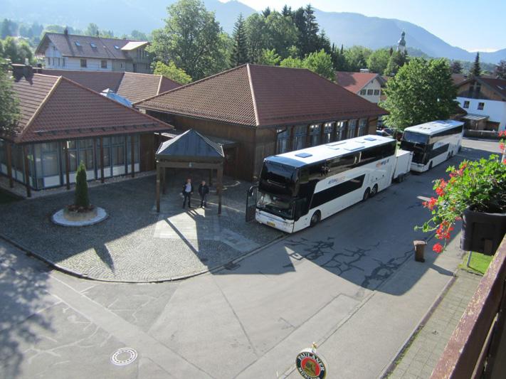 De bussen staan klaar