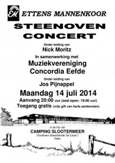 Poster Steenoven concert 2014