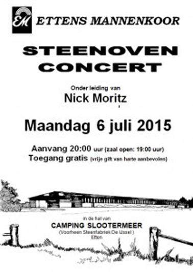 Poster Steenoven Concert 2015